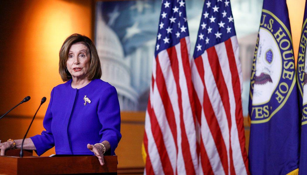 美國眾議院議長裴洛西祝賀蔡英文連任,並期待加強美台關係。 路透