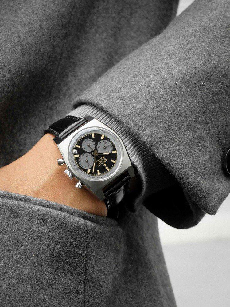 真力時以原型表的方式來打造A384 Revival魯邦三世特別版聯名腕表,包括泵...