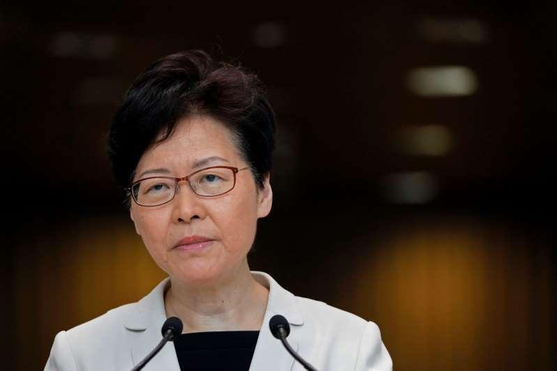 香港特首林鄭月娥表示,獨立檢討委員會籌備工作將近完成。(美聯社資料照片)