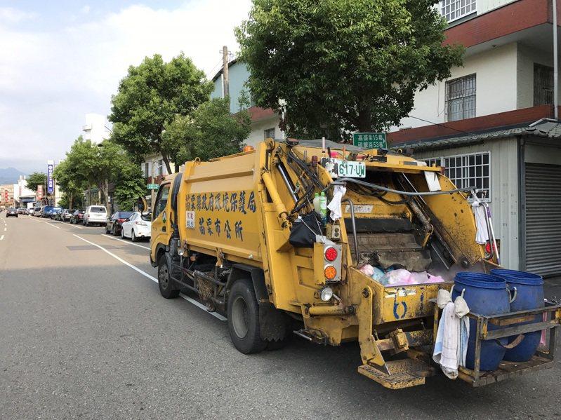 苗栗縣政府環保局公布18鄉鎮市春節期間垃圾清運情形,提醒民眾注意配合。圖/苗栗市公所提供