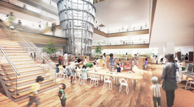 3樓親子閱讀區模擬圖。圖/桃園市政府新建工程處