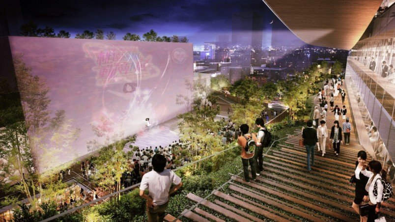 圖書館2樓戶外劇場模擬圖。圖/桃園市政府新建工程處