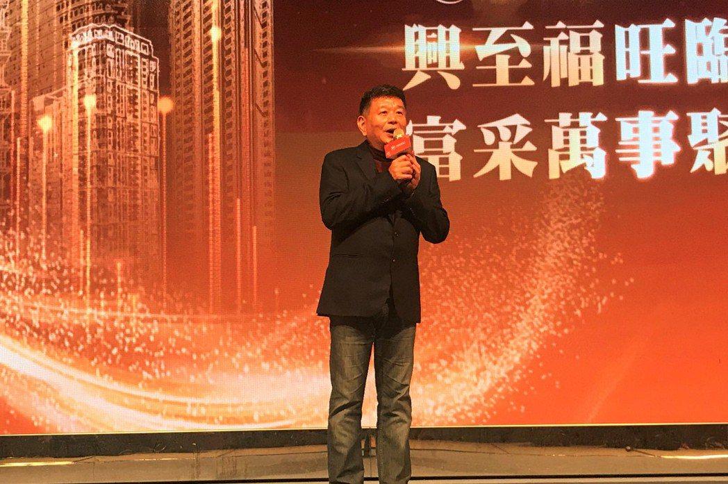 興富發集團總裁鄭欽天。記者游智文/攝影