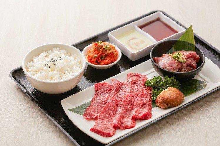 乾杯自2月3日起,推出8款肉品組合的午間套餐,售價219元起。圖/乾杯提供