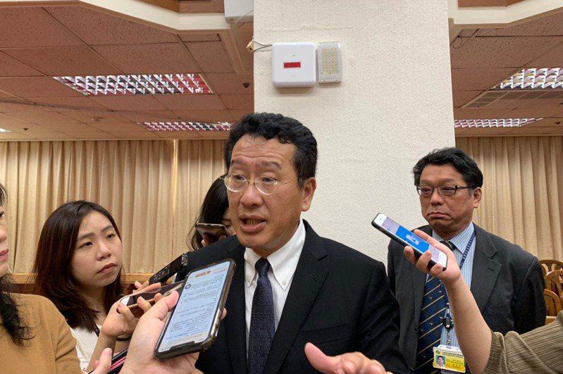 關於選後內閣人事,金管會主委顧立雄表示,他已被告知獲得留任。記者仝澤蓉/攝影