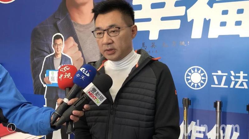 立委當選人江啟臣昨晚率先宣布請辭中常委。記者陳秋雲/攝影