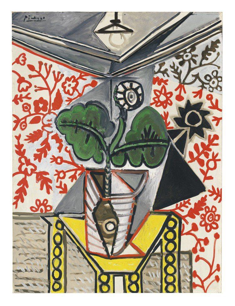 畢卡索的《室內的瓶花》暗藏有和馬蒂斯的友誼,復有與戀人Françoise Gil...