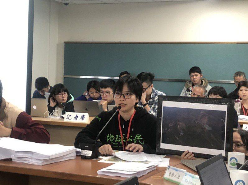地球公民基金會花東辦公室主任黃斐悅。記者侯俐安/攝影