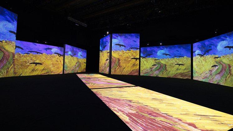 「再見梵谷-光影體驗展」台北場。圖/KKLIVE提供
