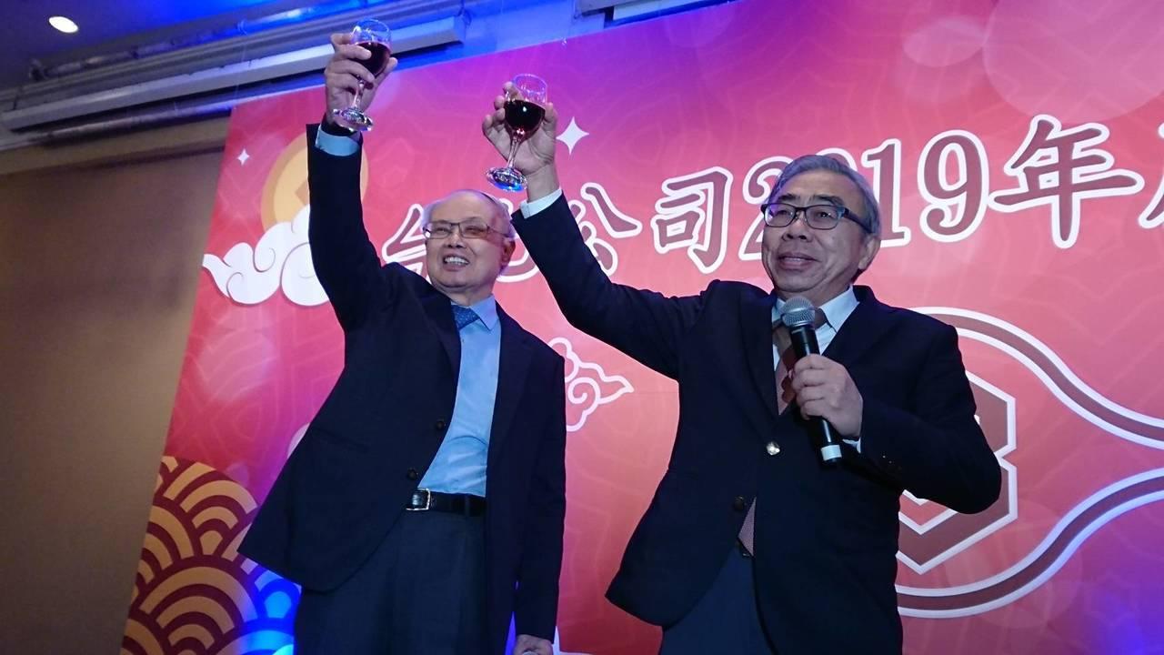 今天台化舉行暮年會,總裁王文淵也親自出席參加。記者黃淑惠/攝影