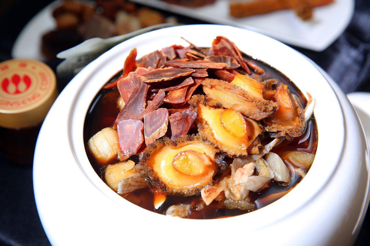 「高麗蔘黑蒜佛跳牆」以蔘飲、蔘雞精等產品入菜。圖/正官庄提供