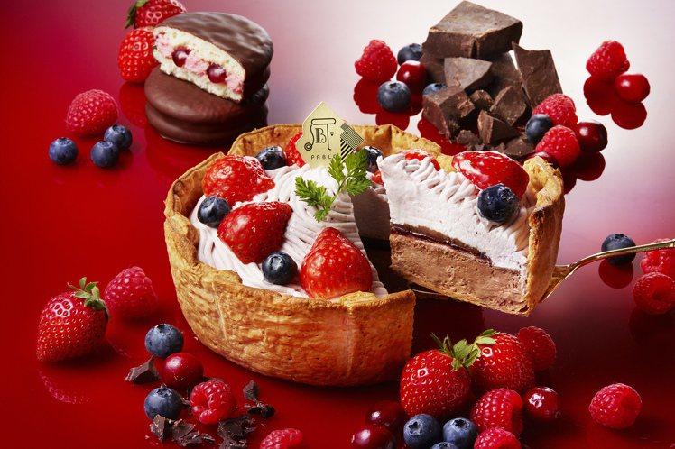 PABLO「美莓四重奏巧克力起司塔」,每顆售價658元。圖/PABLO提供