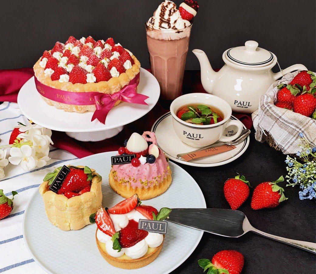 PAUL推出各式草莓甜點、麵包。圖/PAUL提供