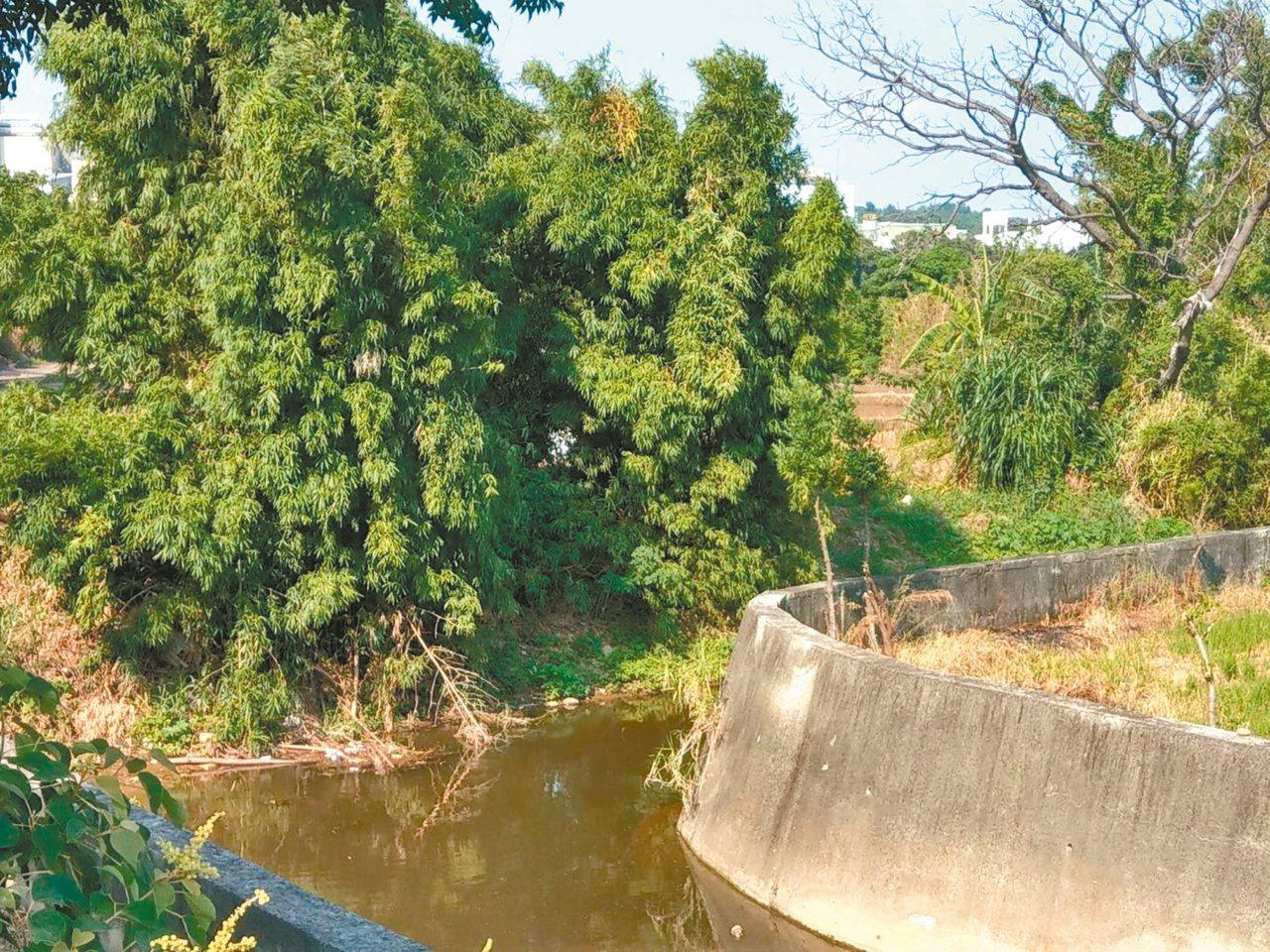 新豐鄉中崙支線排水護岸因護岸高度不足,遇豪大雨容易淹水,已獲得前瞻經費改善。 圖...