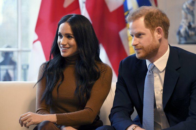 英國王子哈利和梅根夫妻拋出震撼彈,想尋求財政獨立,CNN認為兩人可能會透過經營社群、出書、演講等方式,賺自己的錢。  (美聯社)