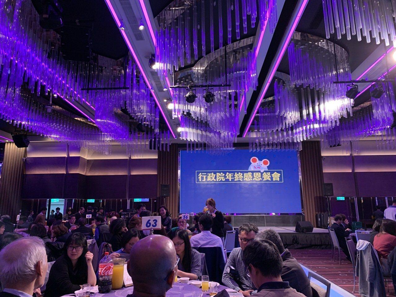 行政院昨晚舉辦年終感恩餐會。記者林河名/攝影