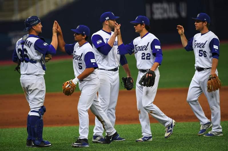 以色列棒球隊。 法新社