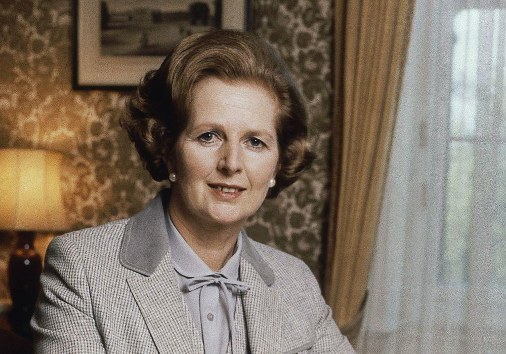 英國已故首相柴契爾夫人曾稱無法忍受她的內閣成員留鬍子。(美聯社)