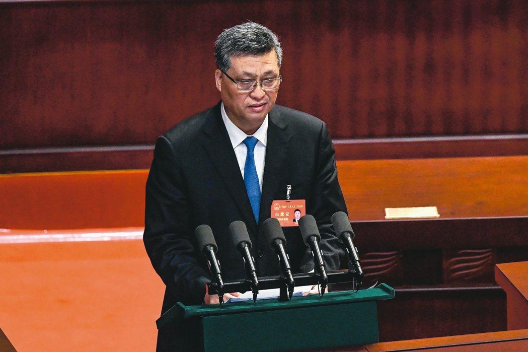 廣東省長馬興瑞作政府工作報告中透露,去年廣東GDP達人民幣10.5兆元。 中新社