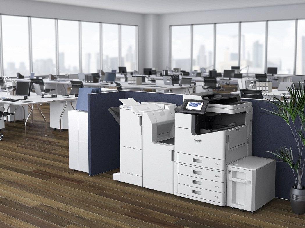Epson黑白極速微噴影印機WF-M20590每組防水墨水匣可列印高達120,0...