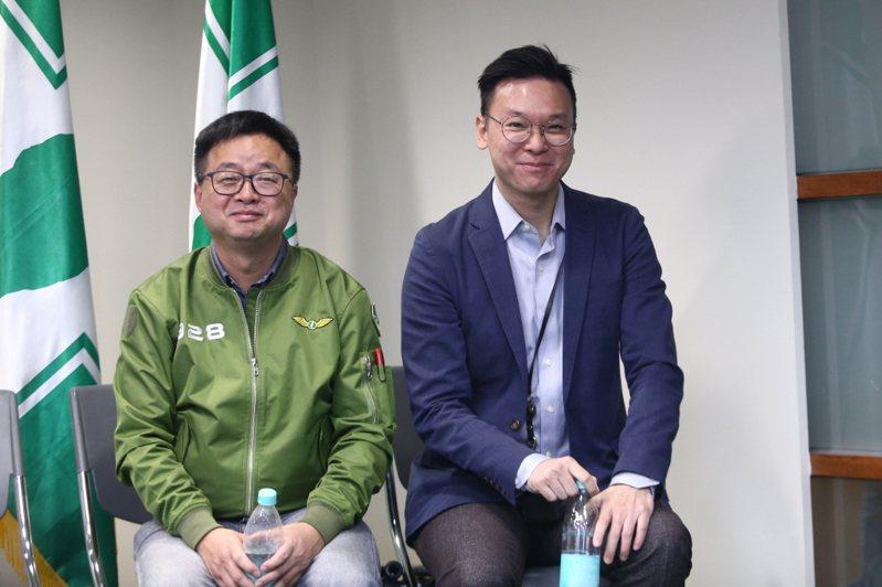 民進黨秘書長羅文嘉(左)與副秘書長林飛帆(右),已向黨主席卓榮泰口頭請辭。 聯合報系資料照片/記者蘇健忠攝影