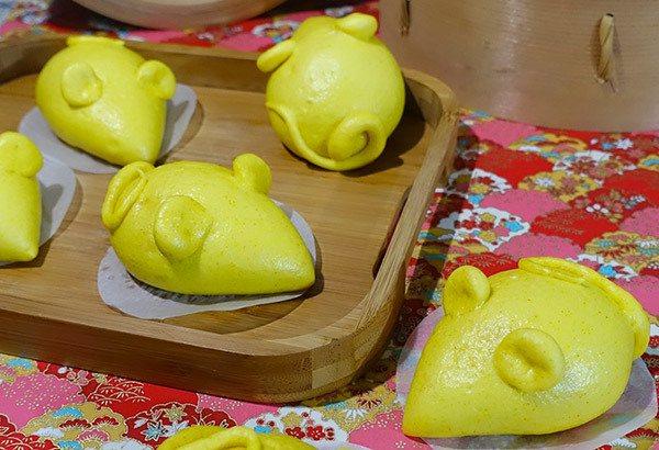 「黃金鼠來寶」咖哩雞肉包。 翻攝/Panasonic蒸氣烘烤爐臉書社團