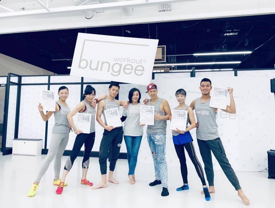 唐雅君歷經10年翻身,去年底引進蹦極飛躍健身,重新回歸健身產業。圖擷自Bunge...