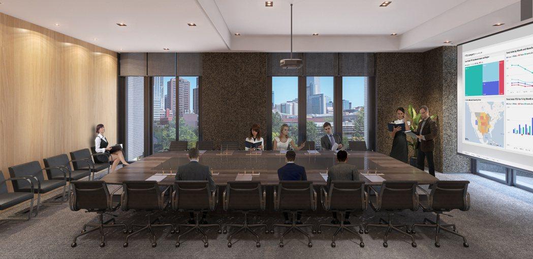 「高雄CBD」雲端會議中心。此為3D示意圖。 圖片提供/興富發建設