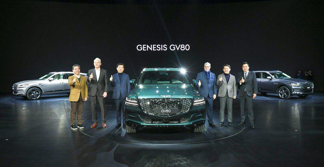 Genesis GV80今日(15)在韓國京畿道正式發表。 摘自Genesis