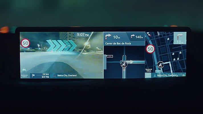 Genesis GV80配置了虛擬實境導航。