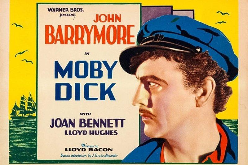《白鯨記》電影海報,1930。 圖/IMDb
