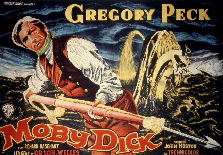 《白鯨記》電影海報,1956。 圖/IMDb