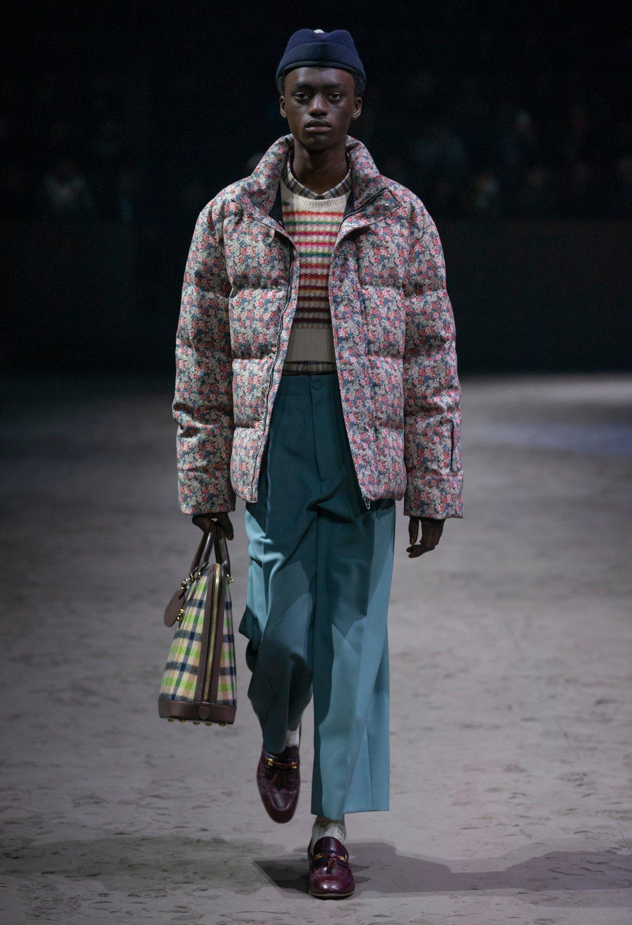搶眼的小碎花夾克。圖/Gucci提供