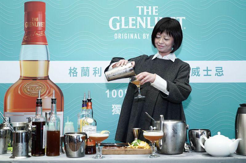 葉怡蘭公開她的「私房佐餐心法」 。圖/保樂力加提供   ※ 提醒您:禁止酒駕 飲酒過量有礙健康