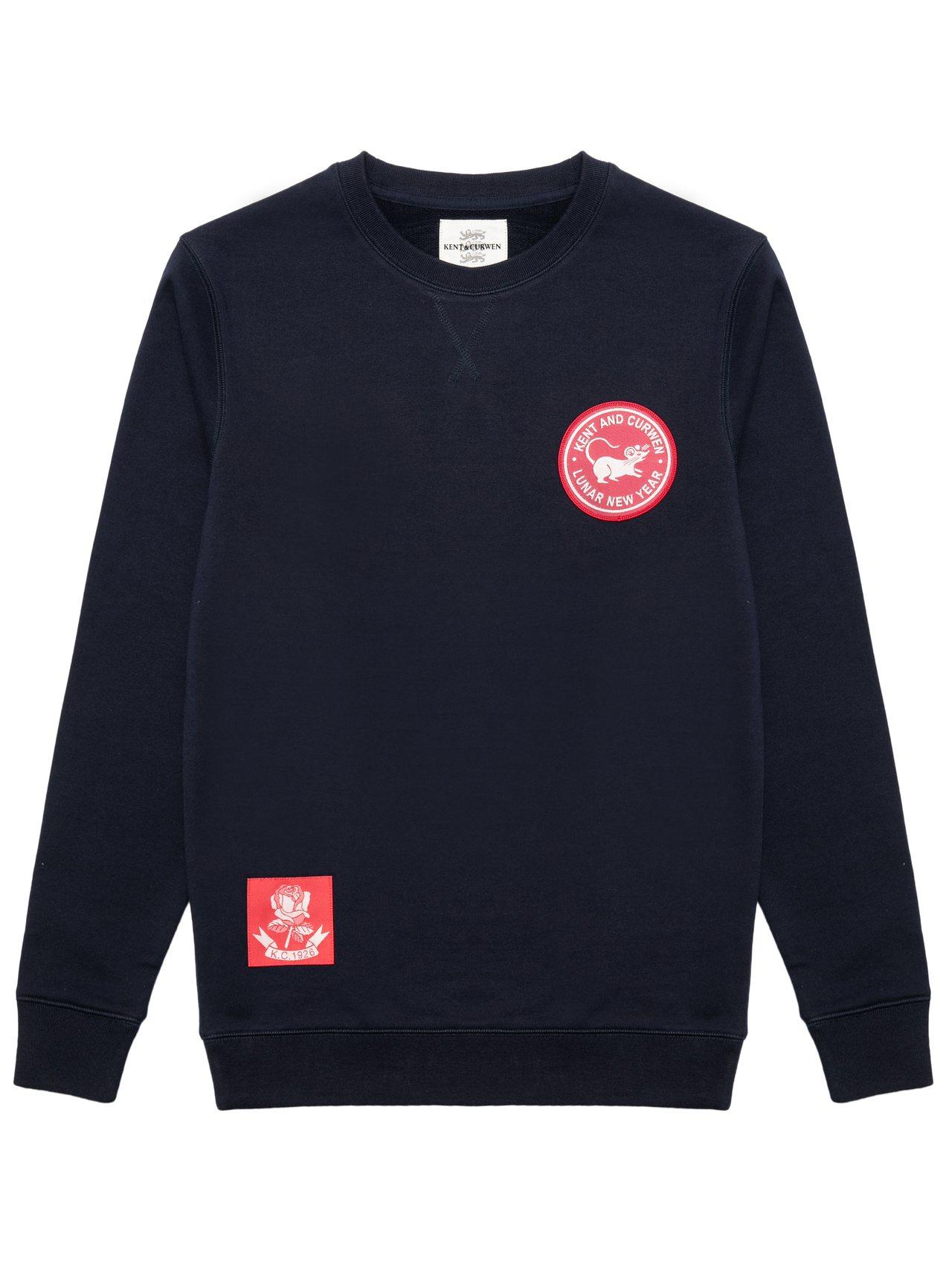 Kent & Curwen鼠年限定迷你系列海軍藍圓領衫7,770元。圖/Kent...