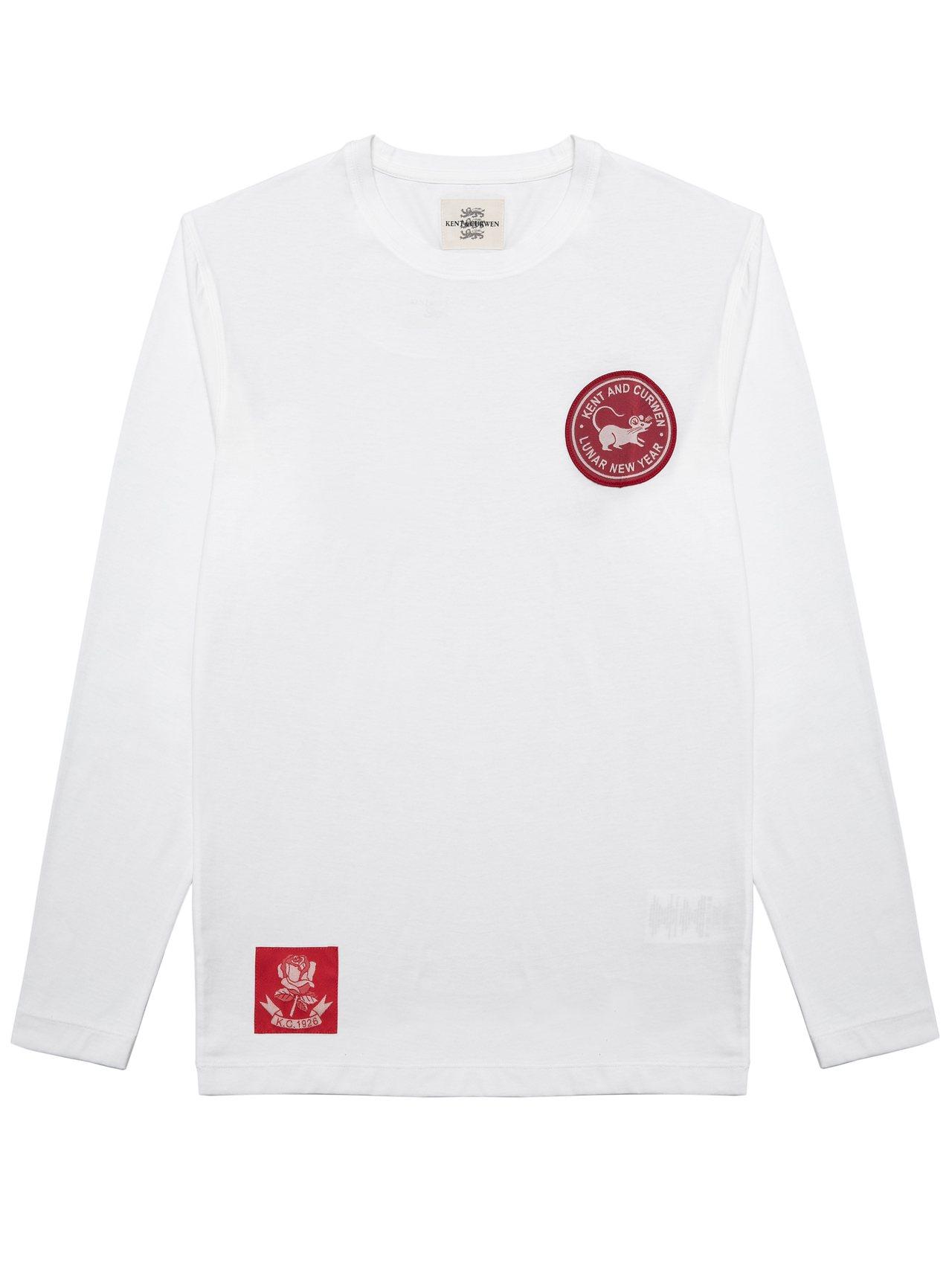 Kent & Curwen鼠年限定迷你系列白色T恤4,830元。圖/Kent &...