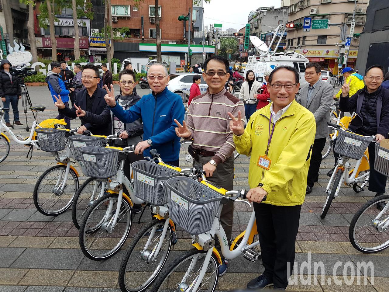 北市公共自行車YouBike 2.0試辦計畫今天早上10點在公館地區啟動,前30...
