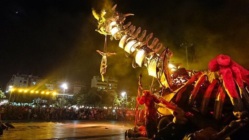 法國馬戲雜耍團帶來12公尺高的機械巨龍。圖/桃園市政府觀光旅遊局提供