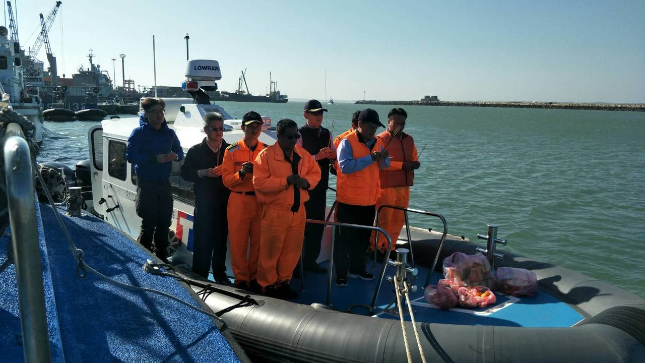 海巡署艦隊分署第2艘新造多功能艇「CP-1020」於本月8日以船運方式運抵金門,...