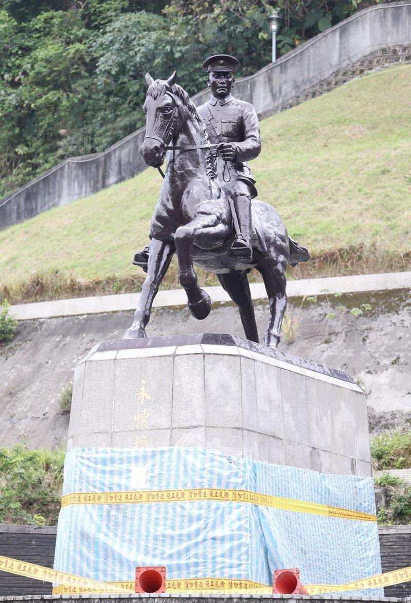 政大校園的蔣公銅像。本報資料照片