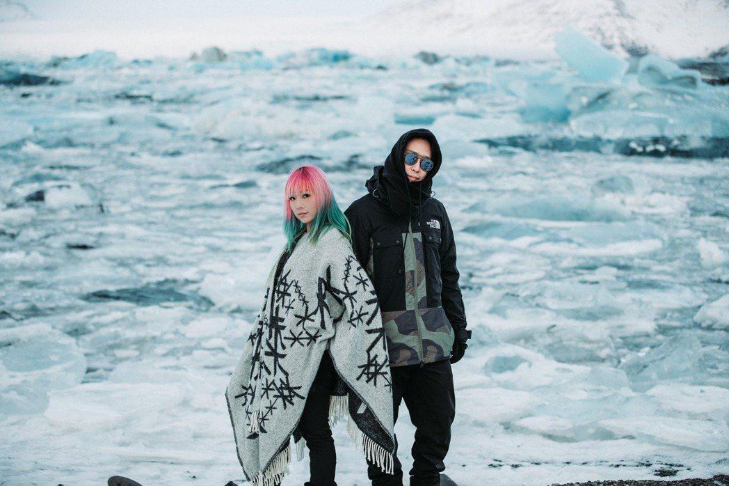 電子組合「原子邦妮」遠赴冰島拍攝MV。圖/滾石提供