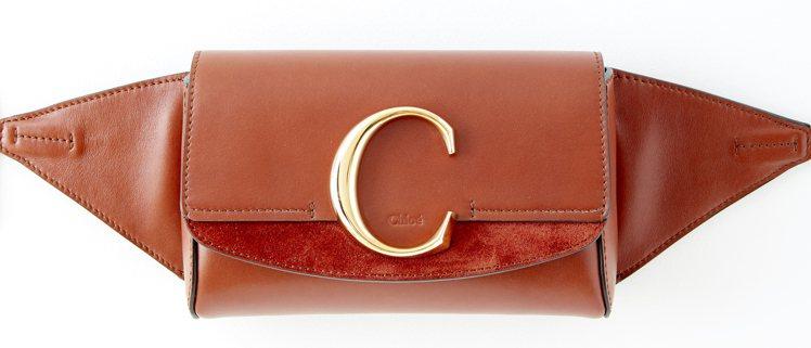 Chloé C咖啡色腰包,售價32,300元。圖/Chloé提供