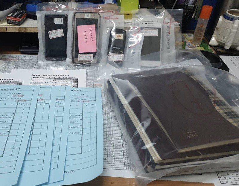 移民署彰化縣專勤隊查扣印尼失聯移工「阿娣」的帳冊,發現被害人達500人。 圖/彰化縣專勤隊提供