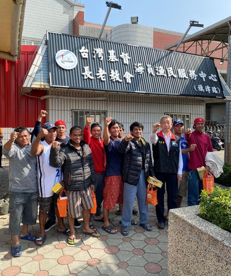 臺灣基督長老教會海員漁民服務中旗津服務站今天啟用。圖/漁業署提供