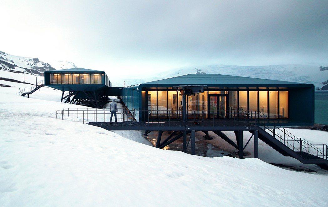 巴西南極研究機構「費拉斯少校南極站」曾在2012年失火毀損,圖為重建後的新站,預...