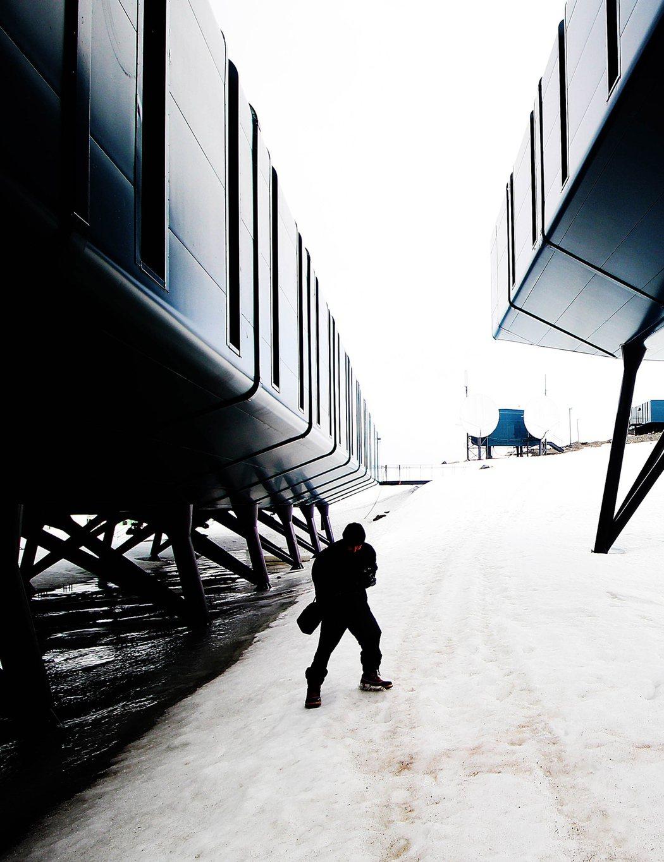巴西新建的南極研究機構「費拉斯少校南極站」。歐新社