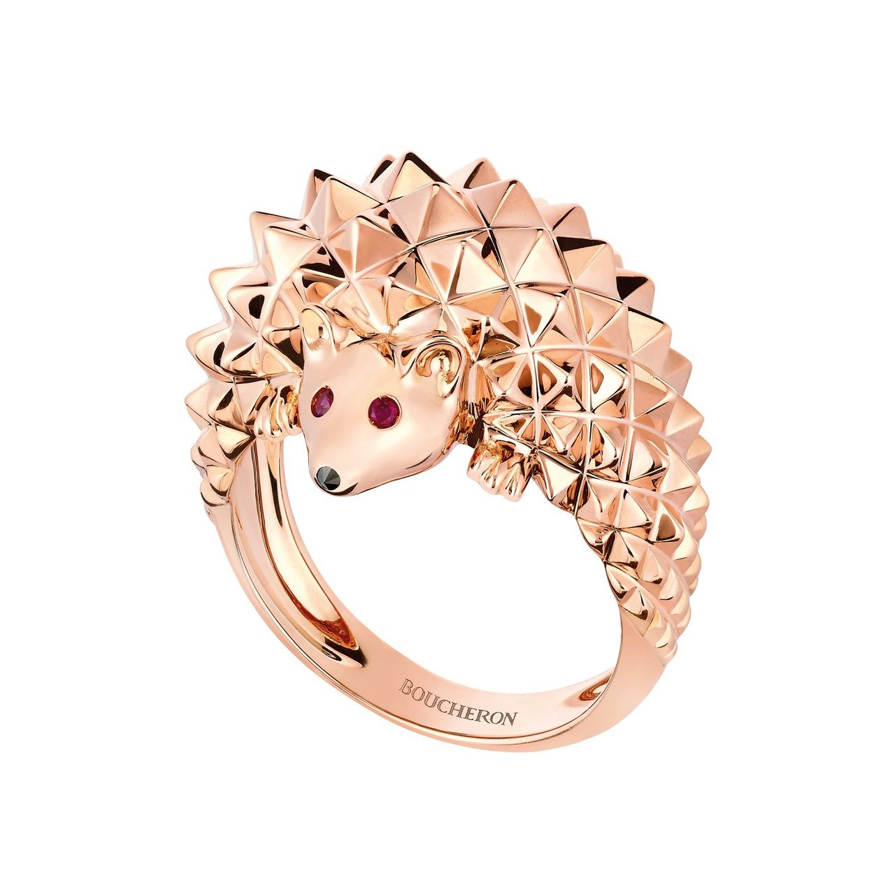 Boucheron,Animaux動物系列刺蝟戒指,17萬6,000元。圖╱Bo...