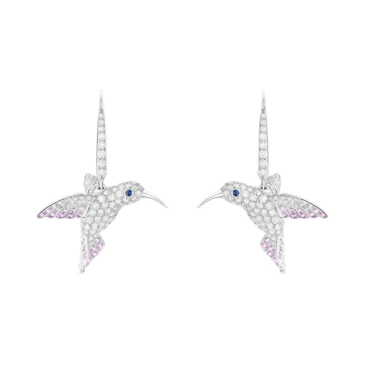 Boucheron,Animaux動物系列蜂鳥耳環,124萬元。圖╱Bouche...