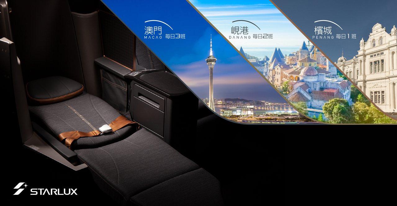 星宇航空目前有澳門、峴港及檳城等3航點。圖/星宇航空提供