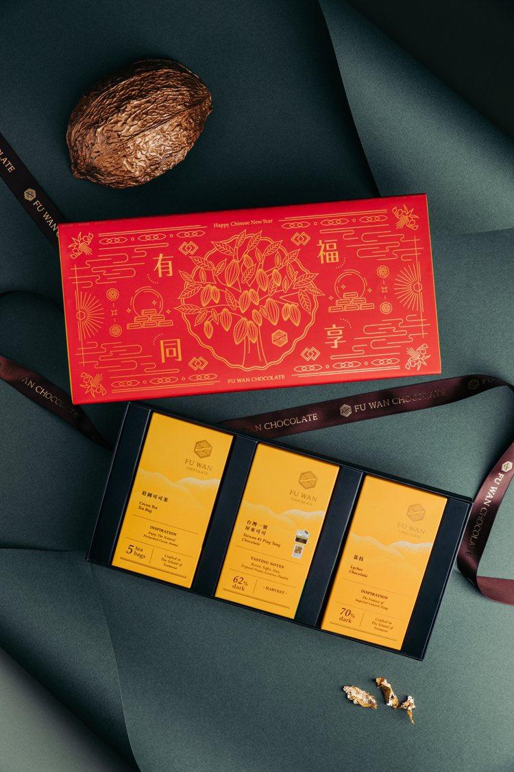 福灣「金牌優選禮盒」售價650元。圖/福灣巧克力提供